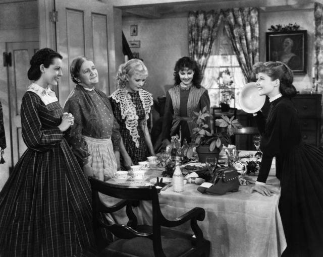 LITTLE WOMEN, Frances Dee, Mabel Colcord, Joan Bennett, Jean Parker, Katharine Hepburn, 1933